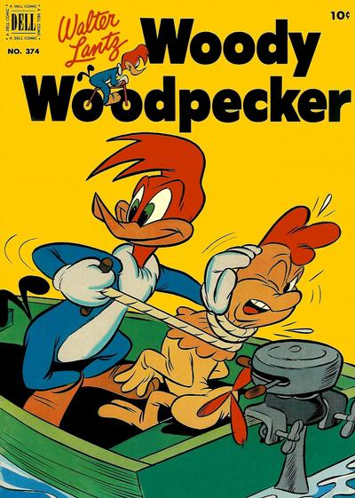 Cover for Four Color (Dell, 1942 series) #374 - Walter Lantz Woody Woodpecker