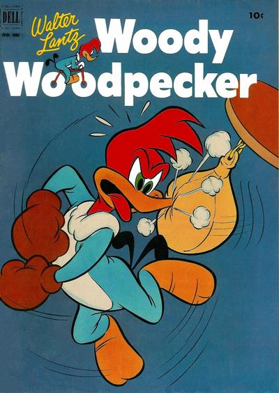 Cover for Four Color (Dell, 1942 series) #405 - Walter Lantz Woody Woodpecker