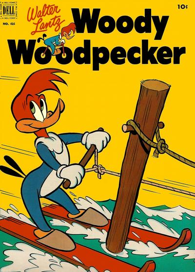 Cover for Four Color (Dell, 1942 series) #416 - Walter Lantz Woody Woodpecker