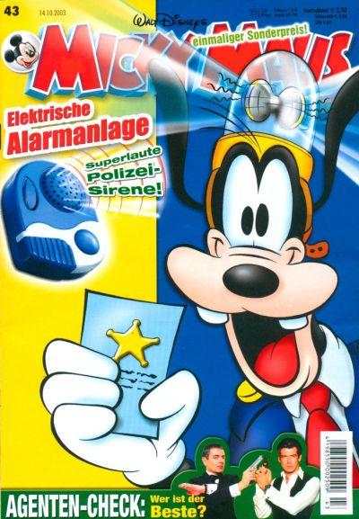 Cover for Micky Maus (Egmont Ehapa, 1951 series) #43/2003