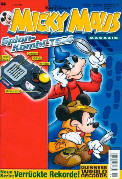 Cover for Micky Maus (Egmont Ehapa, 1951 series) #44/2003