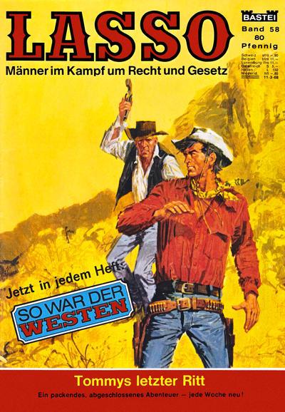 Cover for Lasso (Bastei Verlag, 1966 series) #58