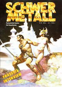 Cover Thumbnail for Schwermetall (Kunst der Comics / Alpha, 1984 series) #59