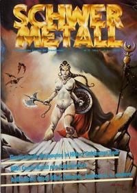 Cover Thumbnail for Schwermetall (Kunst der Comics / Alpha, 1984 series) #75