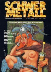 Cover Thumbnail for Schwermetall (Kunst der Comics / Alpha, 1984 series) #88