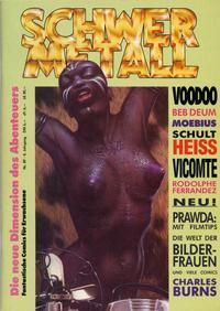 Cover Thumbnail for Schwermetall (Kunst der Comics / Alpha, 1984 series) #89