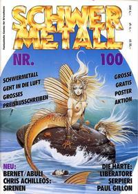 Cover Thumbnail for Schwermetall (Kunst der Comics / Alpha, 1984 series) #100