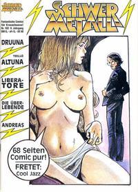 Cover Thumbnail for Schwermetall (Kunst der Comics / Alpha, 1984 series) #102