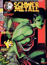 Cover Thumbnail for Schwermetall (Kunst der Comics / Alpha, 1984 series) #217/218