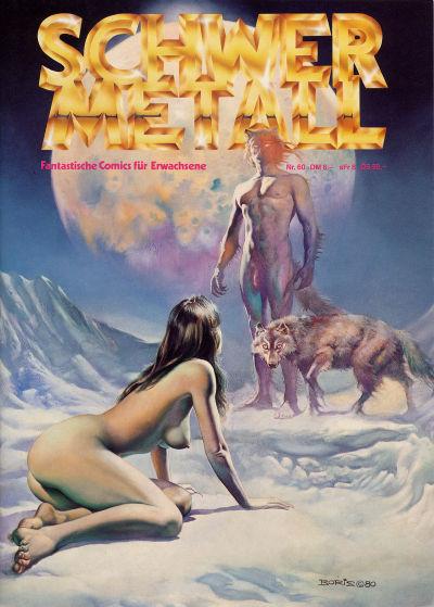Cover for Schwermetall (Kunst der Comics / Alpha, 1984 series) #60