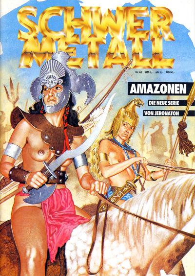 Cover for Schwermetall (Kunst der Comics / Alpha, 1984 series) #62