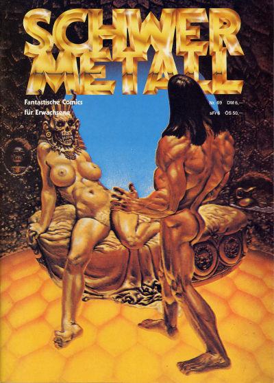 Cover for Schwermetall (Kunst der Comics / Alpha, 1984 series) #69