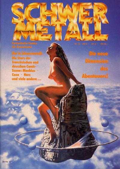 Cover for Schwermetall (Kunst der Comics / Alpha, 1984 series) #73