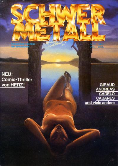 Cover for Schwermetall (Kunst der Comics / Alpha, 1984 series) #77