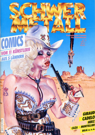 Cover for Schwermetall (Kunst der Comics / Alpha, 1984 series) #79