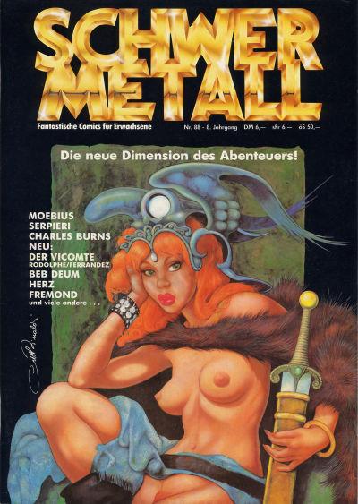 Cover for Schwermetall (Kunst der Comics / Alpha, 1984 series) #88