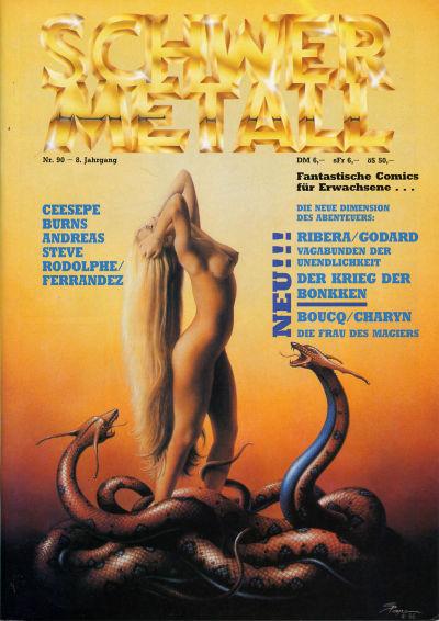 Cover for Schwermetall (Kunst der Comics / Alpha, 1984 series) #90