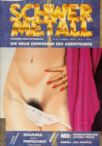 Cover for Schwermetall (Kunst der Comics / Alpha, 1984 series) #95