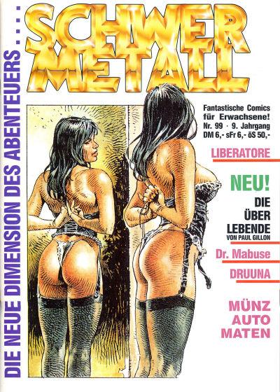 Cover for Schwermetall (Kunst der Comics / Alpha, 1984 series) #99