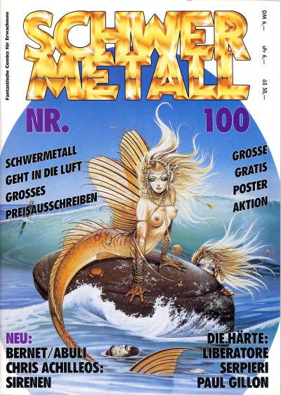 Cover for Schwermetall (Kunst der Comics / Alpha, 1984 series) #100