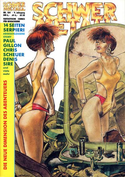 Cover for Schwermetall (Kunst der Comics / Alpha, 1984 series) #104
