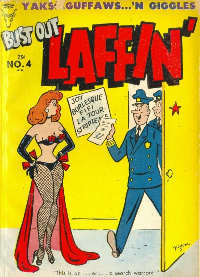 Cover for Bust Out Laffin' (Toby, 1954 series) #4