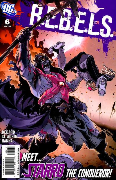 Cover for R.E.B.E.L.S. (DC, 2009 series) #6