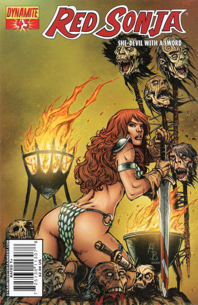 Cover for Red Sonja (Dynamite Entertainment, 2005 series) #43 [Cover A]