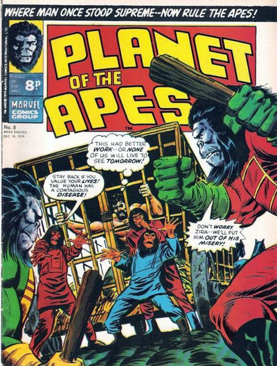 Cover for Planet of the Apes (Marvel UK, 1974 series) #8