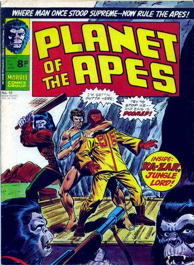 Cover for Planet of the Apes (Marvel UK, 1974 series) #10