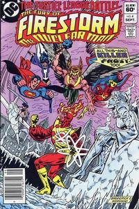 Cover Thumbnail for The Fury of Firestorm (DC, 1982 series) #4 [Newsstand]
