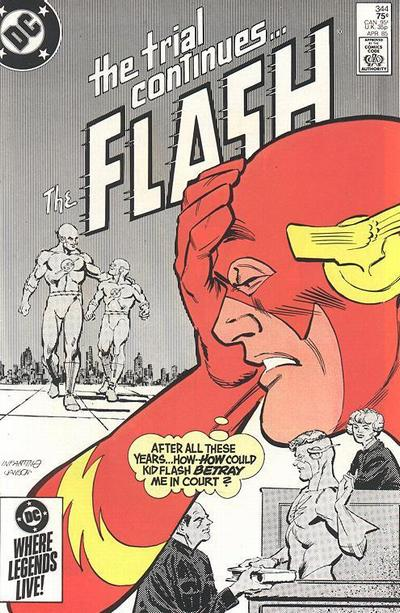 Cover for The Flash (DC, 1959 series) #344 [Newsstand Edition]