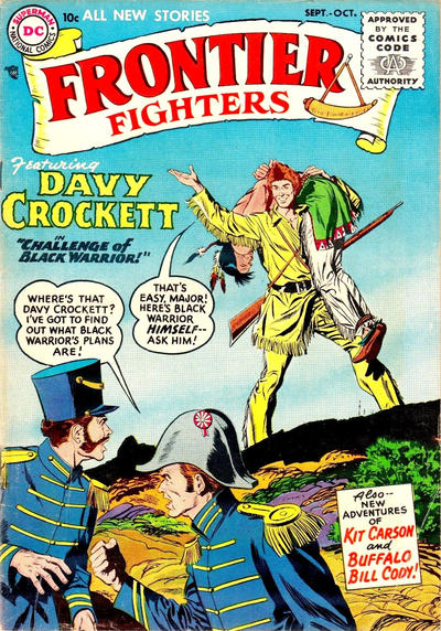 Cover for Frontier Fighters (DC, 1955 series) #1