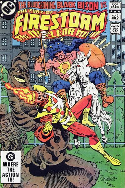 Cover for The Fury of Firestorm (DC, 1982 series) #2 [Direct Sales]