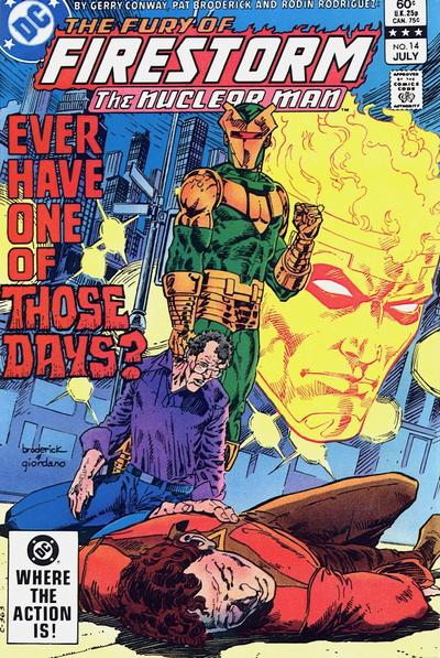 Cover for The Fury of Firestorm (DC, 1982 series) #14 [Newsstand]