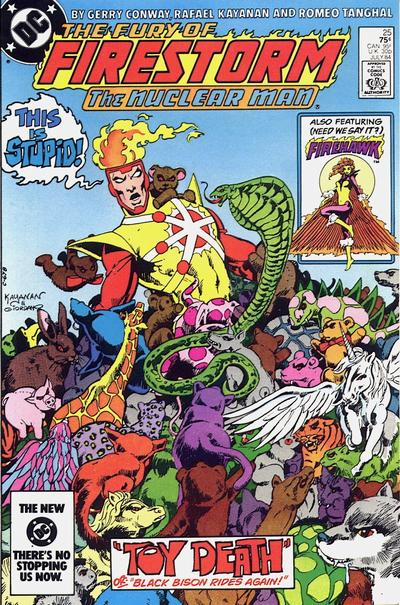 Cover for The Fury of Firestorm (DC, 1982 series) #25 [Newsstand]