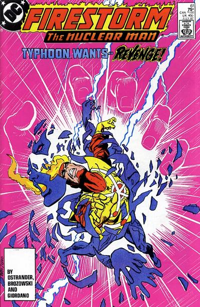Cover for The Fury of Firestorm (DC, 1982 series) #61 [Newsstand]