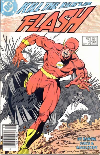 Cover for Flash (DC, 1987 series) #4 [Direct Edition]
