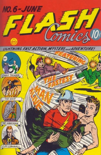 Cover for Flash Comics (DC, 1940 series) #6