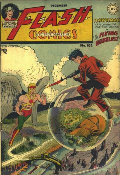 Cover for Flash Comics (DC, 1940 series) #102