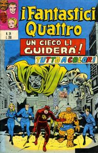 Cover for I Fantastici Quattro (Editoriale Corno, 1971 series) #34