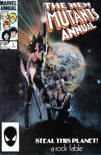 Cover Thumbnail for The New Mutants Annual (Marvel, 1984 series) #1 [Direct Edition]