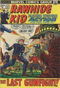 Cover Thumbnail for The Rawhide Kid (Marvel, 1960 series) #115