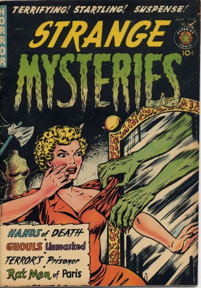 Cover for Strange Mysteries (Superior Publishers Limited, 1951 series) #4