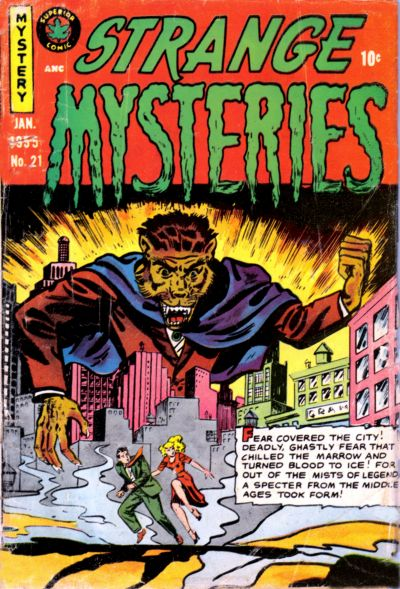 Cover for Strange Mysteries (Superior, 1951 series) #21