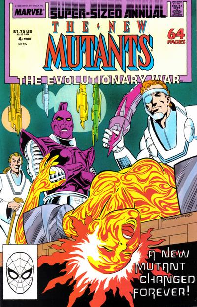 Cover for The New Mutants Annual (Marvel, 1984 series) #4