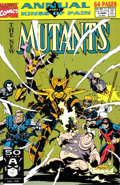 Cover for The New Mutants Annual (Marvel, 1984 series) #7