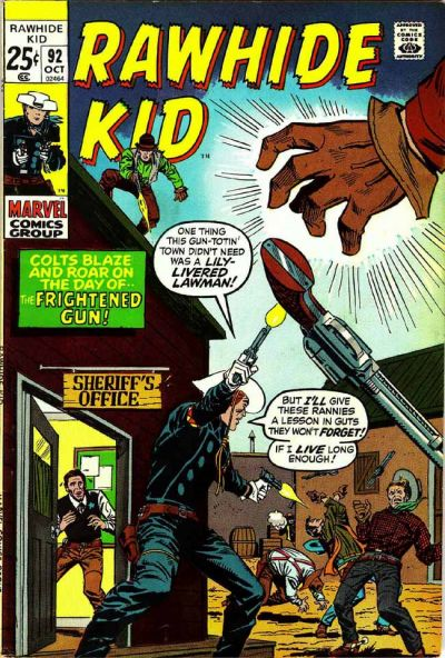 Cover for The Rawhide Kid (Marvel, 1960 series) #92