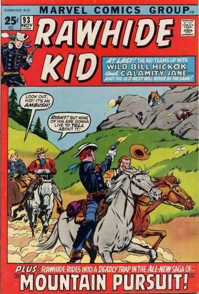 Cover for The Rawhide Kid (Marvel, 1960 series) #93