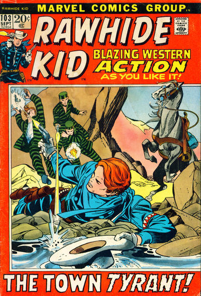 Cover for The Rawhide Kid (Marvel, 1960 series) #103